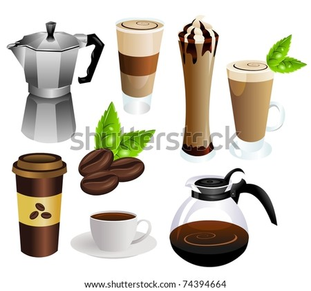 coffee vector set - stock vector