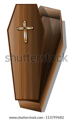 Coffin eps10 - stock vector