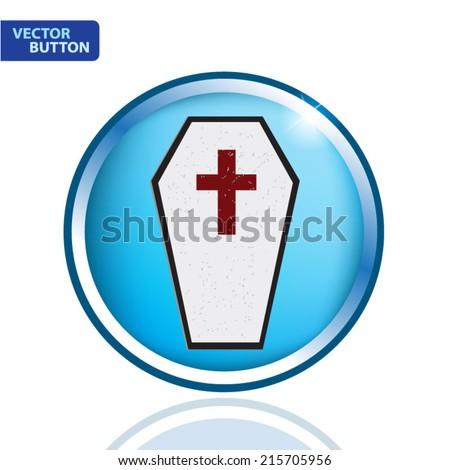 Coffin Vector - stock vector