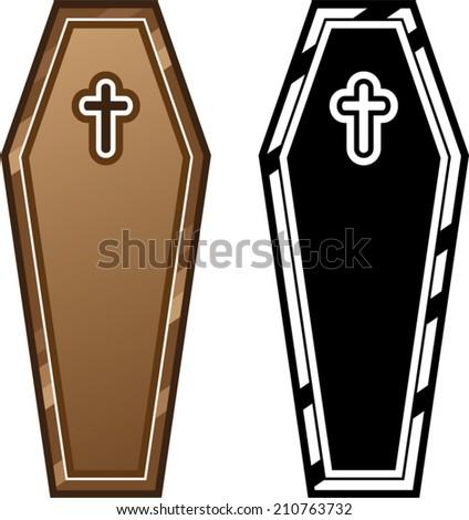 Coffins vector - stock vector