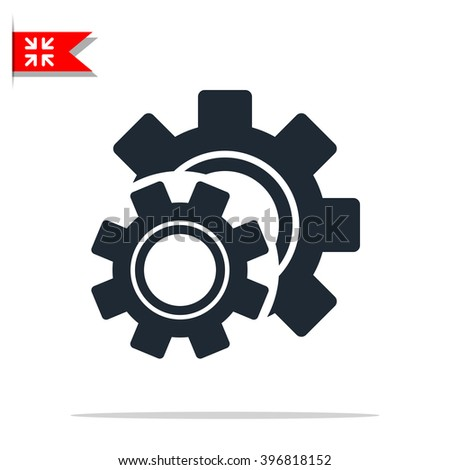 Cog settings icon - stock vector