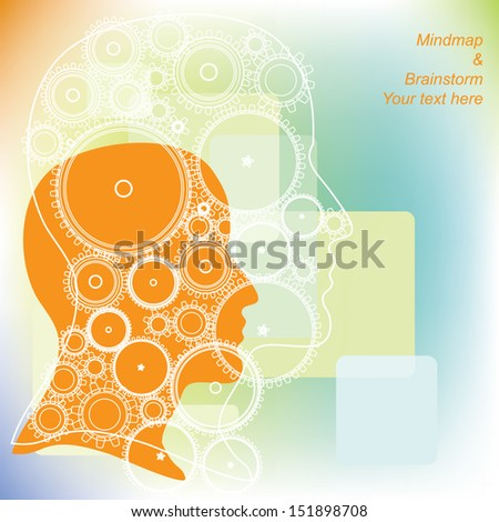 stock vector cog wheels forming a brain shape in the head shape the concept of human intelligence head and 151898708 cog wheels forming brain shape head stock vector 151898708