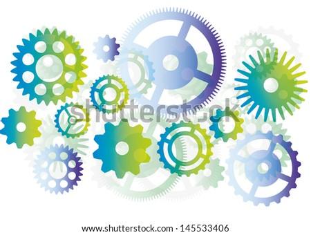 cogwheel abstract vector background - stock vector
