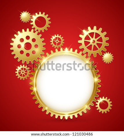 Cogwheel gear document template with copy space for your custom text