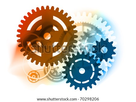 Cogwheel on the color background - stock vector