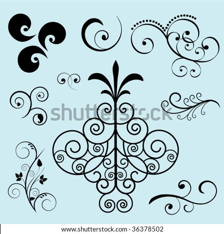 coil elements - stock vector