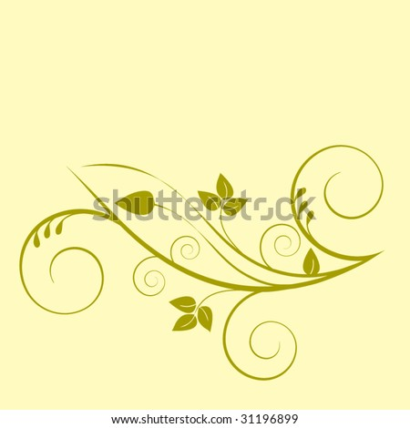 coil foliage - one piece - stock vector