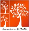 coil money tree  - three versions vector - stock photo