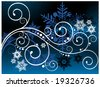coils with snow background - stock vector