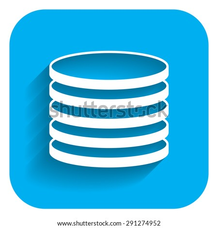 Coin stack icon - stock vector