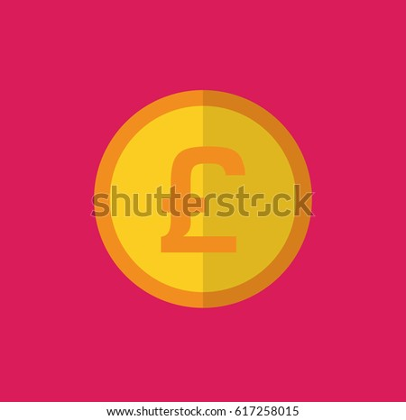 Coin Symbol Pound Sterling Uk Icon Stock Vector 617258015 Shutterstock
