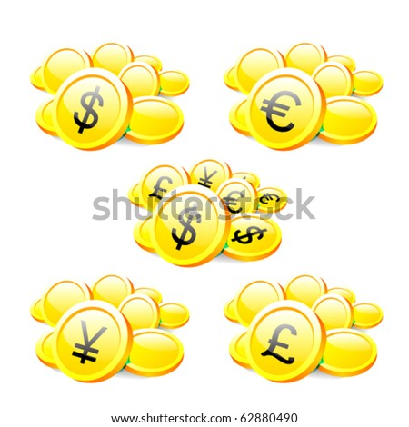Coins - stock vector