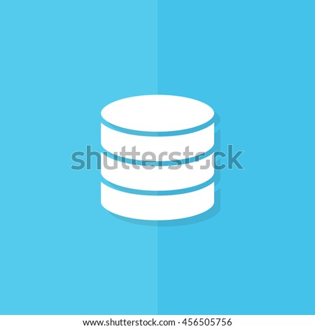 coins icon on flat blue background