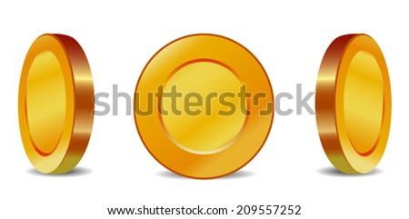 Coins icons. - stock vector
