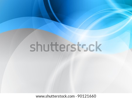 cold background in the blue color - stock vector