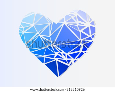 cold broken heart. vector illustration - stock vector