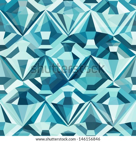 cold color diamond seamless pattern - stock vector