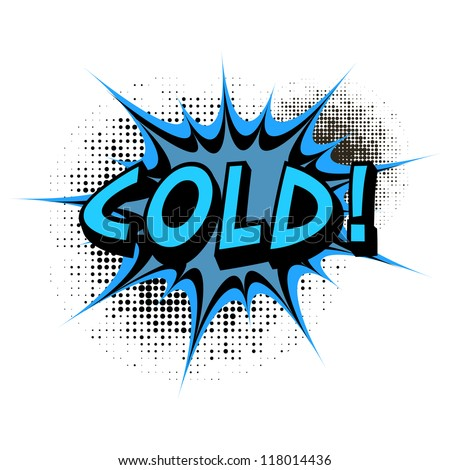 Cold. Comic book explosion. Easy to change color. - stock vector