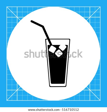 Cold Drink with Ice Icon