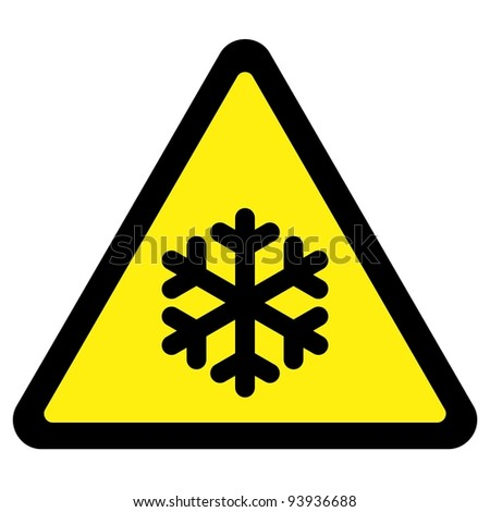 Cold Warning Sign - stock vector