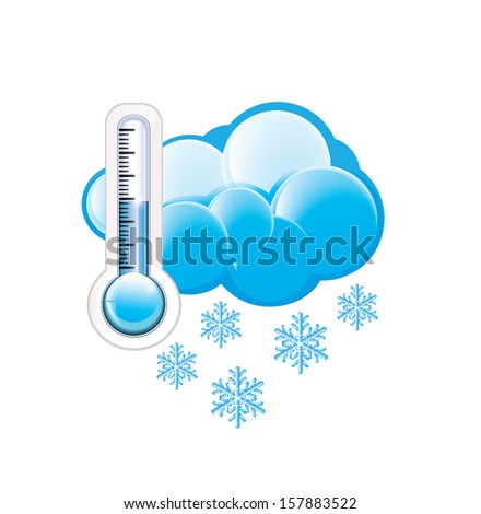 Cold Weather Icon - stock vector