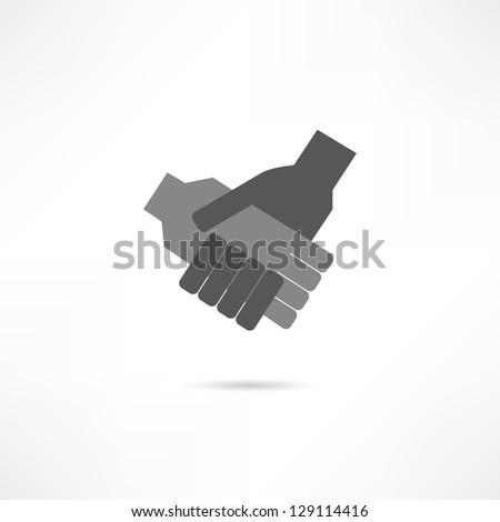 collaboration icon - stock vector