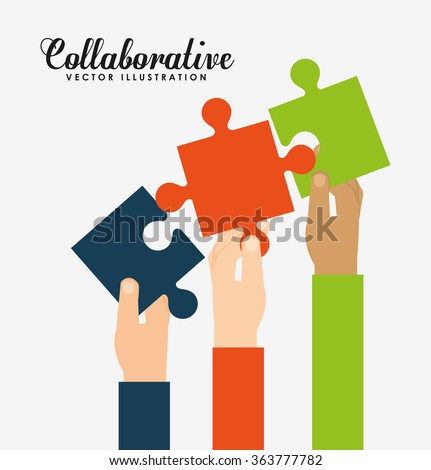 collaborative concept design  - stock vector