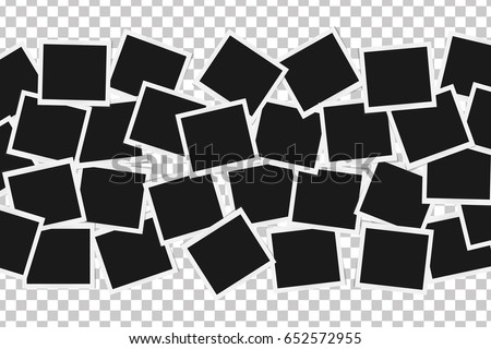 collage realistic frames isolated template design stock vector 652572955 shutterstock. Black Bedroom Furniture Sets. Home Design Ideas