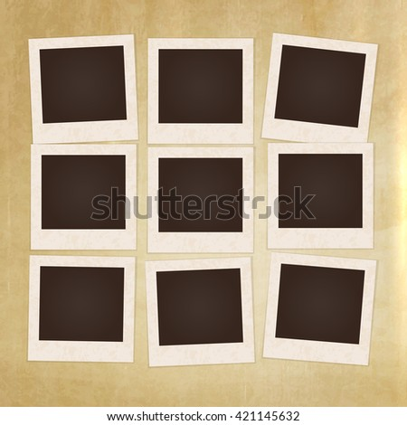 Collage Photo Frame Album Template Kids Vector 429280105 – Template for Photo Album