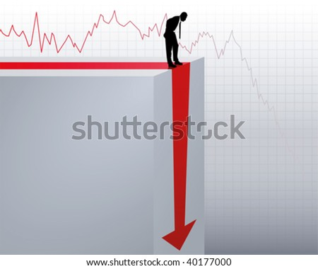 collapse of turnover - stock vector