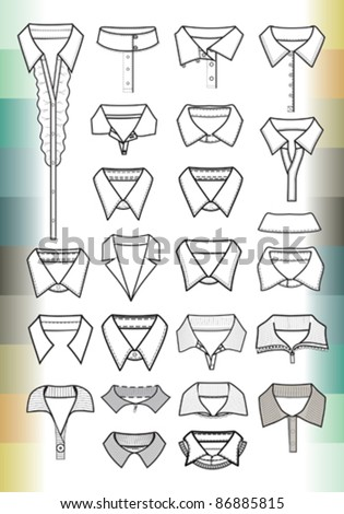 collars - stock vector