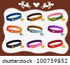 collars for dogs - stock vector