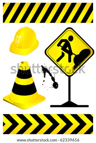 Collect element of under construction, vector illustration