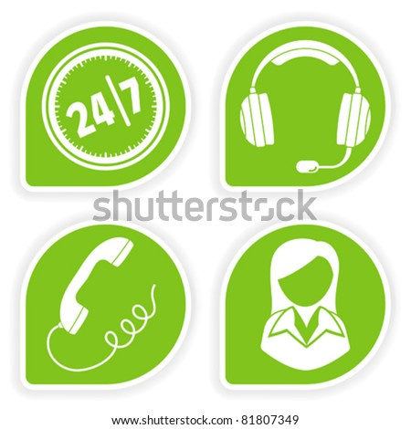 Collect sticker with business woman and consultant icon, vector illustration - stock vector
