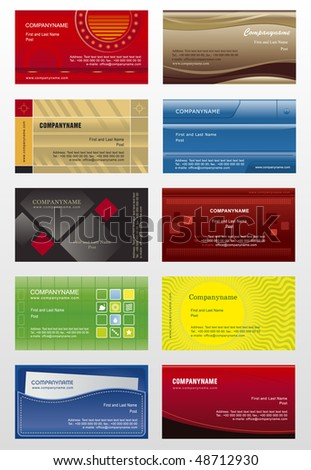 Collection background for business cards - stock vector