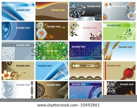 collection backgrounds for business cards and not only... - stock vector