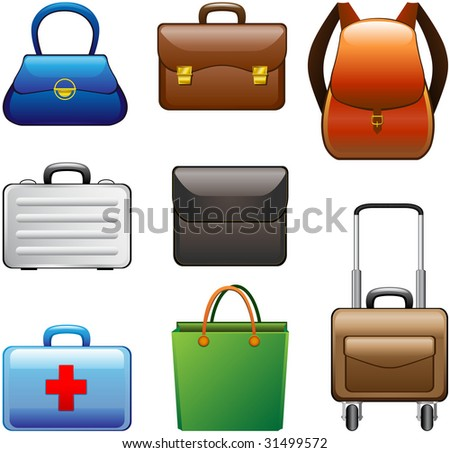 Collection Bags - stock vector