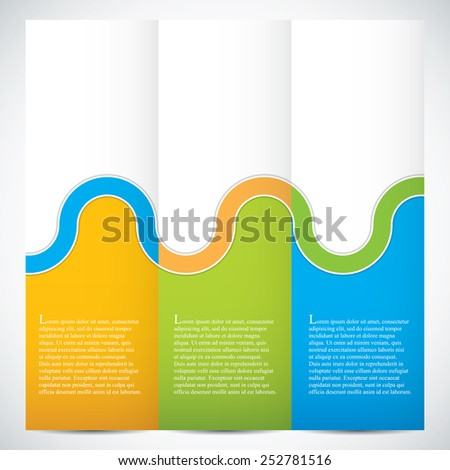 Collection banners modern wave design, colorful background.Vector illustration - stock vector