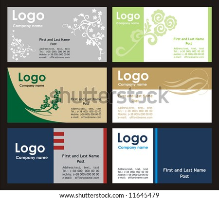 Collection business cards templates - stock vector
