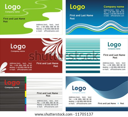 Collection business cards templates 2 - stock vector