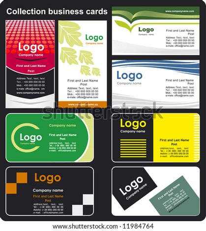 Collection business cards templates 3 - stock vector