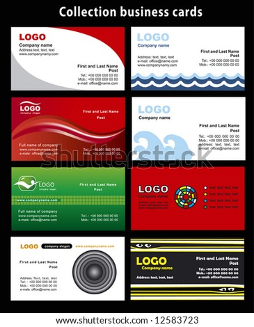 Collection business cards templates 5