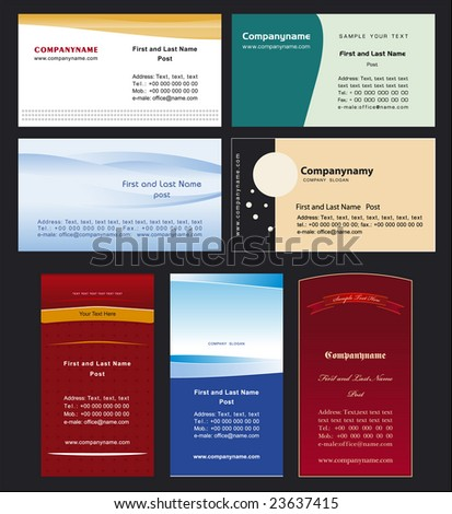Collection business cards templates 4 - stock vector