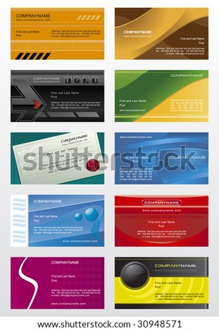 Collection business cards templates  5 - stock vector