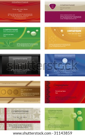 Collection business cards templates  6 - stock vector