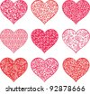 Collection heart isolated on white background. Vector illustration - stock vector