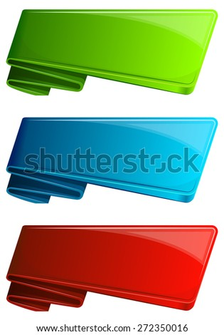 Collection label with curled up edge. Vector illustration - stock vector
