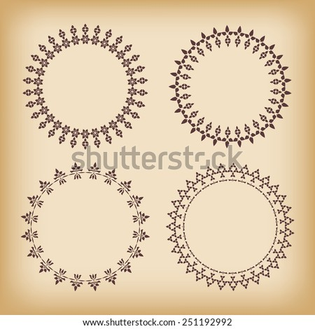 Collection lace frames. Vector illustration. - stock vector