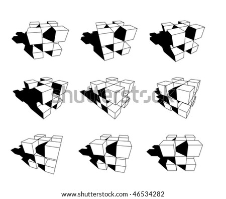 collection of abstract geometric design elements - stock vector