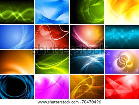 Collection of abstract multicolored backgrounds. Eps 10 vector design
